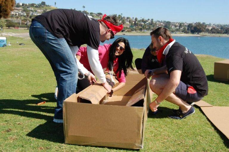 lululemon cardboard boat building challenge testimonial