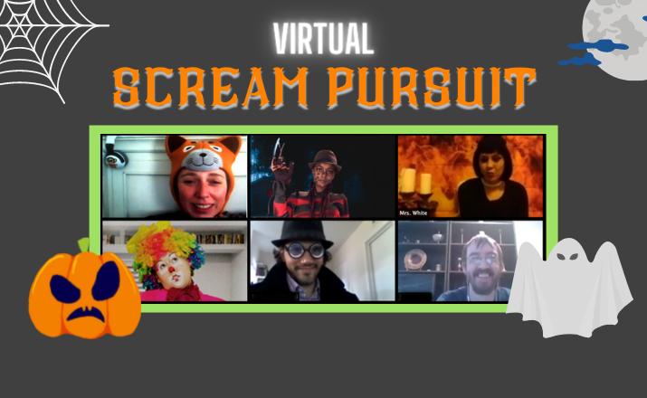 Virtual Scream Pursuit Halloween Team Building Header Image
