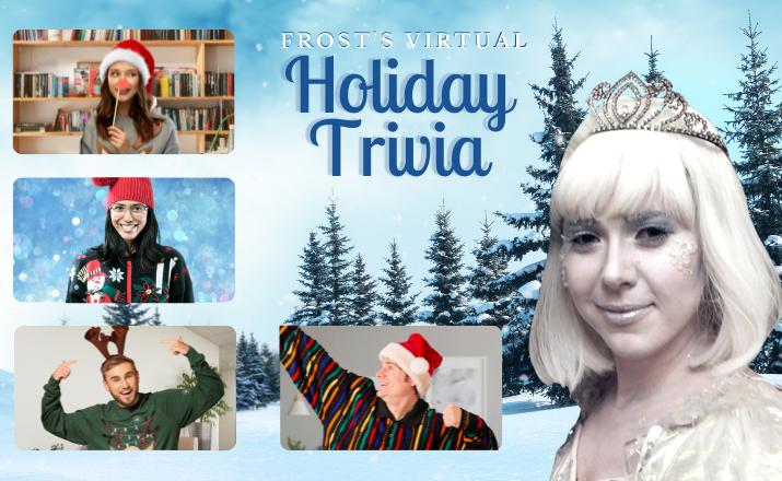 Frosts Virtual Holiday Trivia Team Building Activity Header Image