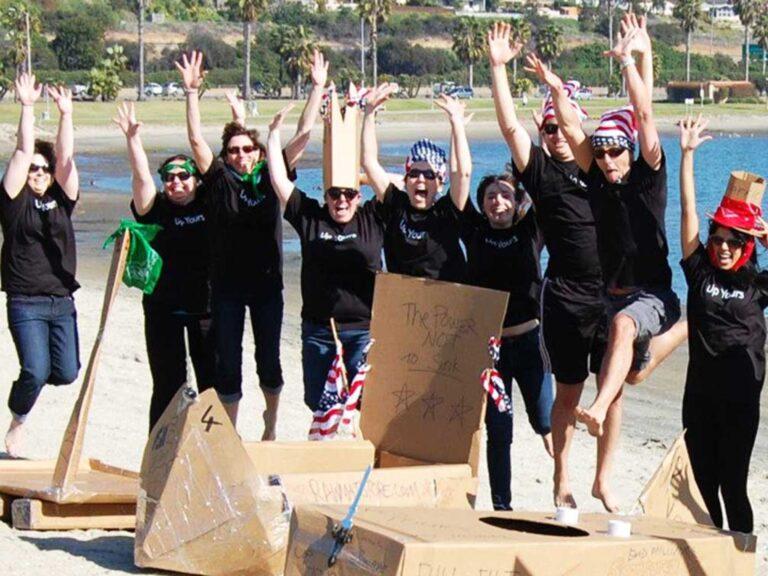 cardboard boat building challenge 13