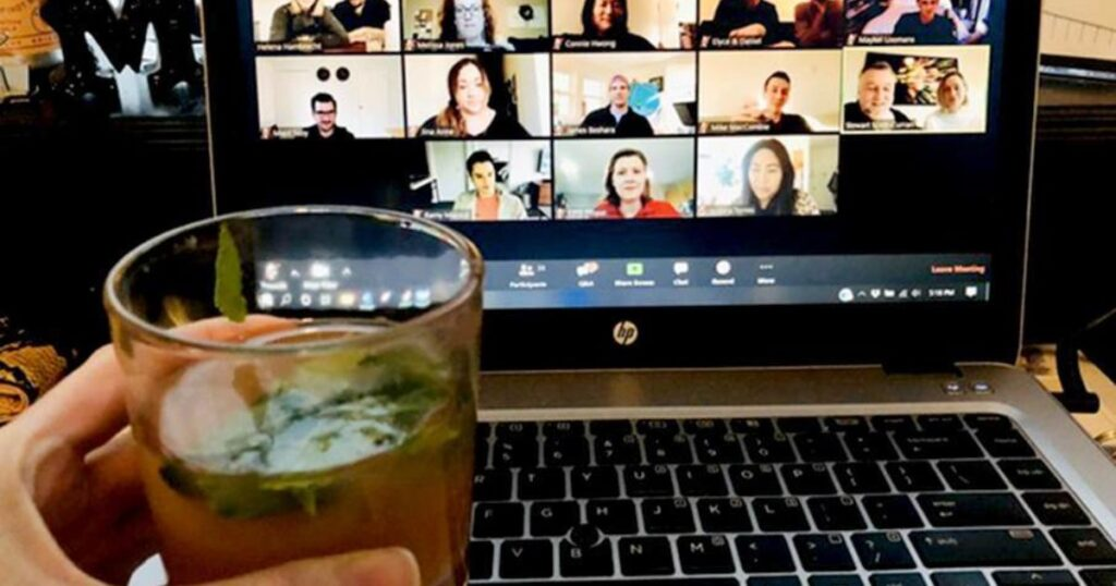virtual happy hour games with colleages