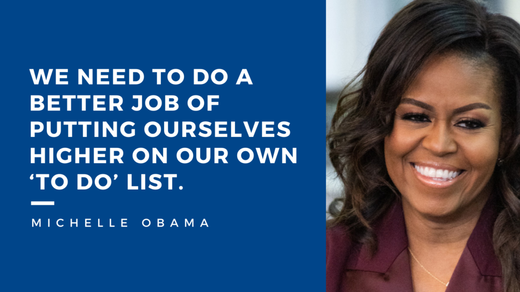 Michelle Obama's quote on work-life balance