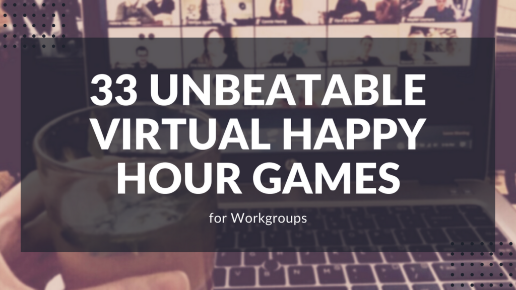 Colleagues enjoying a virtual happy hour