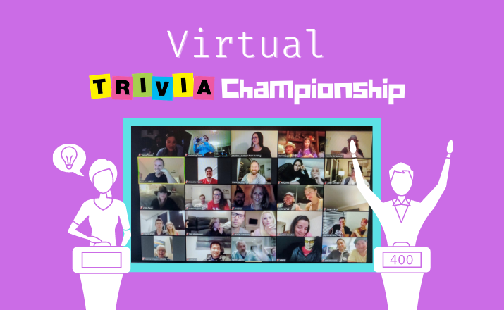 put your team's wit to the test with a The Virtual Trivia Championship team building activity