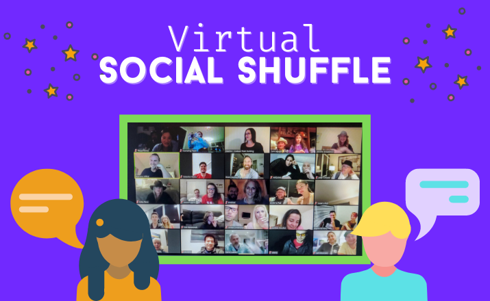 get your team reaquainted after working from home with a Virtual Social Shuffle team building activity