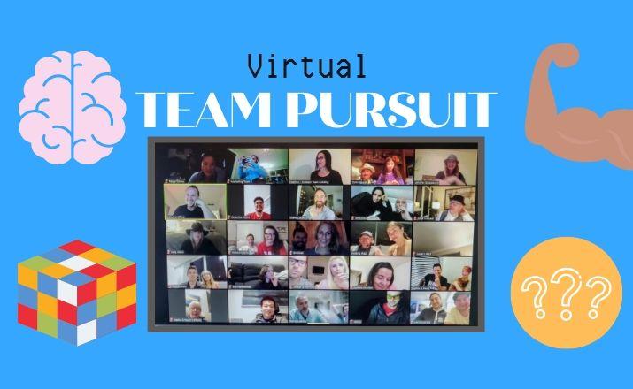 play a virtual team pursuit activity as a unique team building event during covid 19