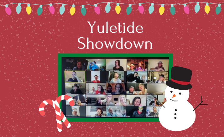 virtual yuletide showdown is a fun and unique holiday team building activity