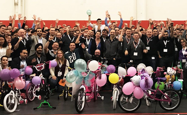 charity bike buildathon is a perfect indoor team building activity for workgroups that like to do good and give back