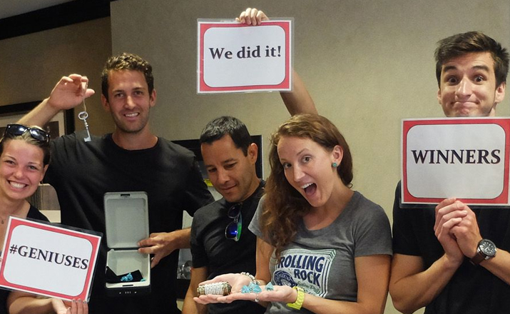 corporate escape rooms are a perfect indoor team building activity for collaborative groups