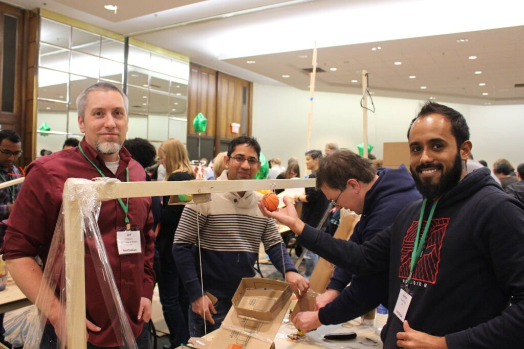 domino effect challenging is a brain busting winter team building activity