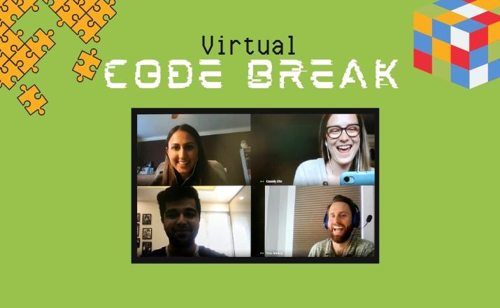 virtual code break is a fun indoor team building activity